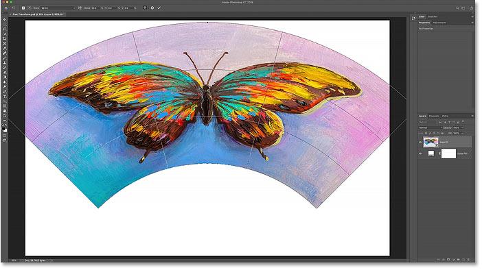 The Arc warp preset shape in Photoshop