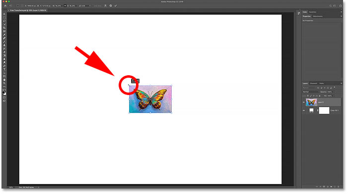 How to scale an image from the center with Photoshop's Free Transform command