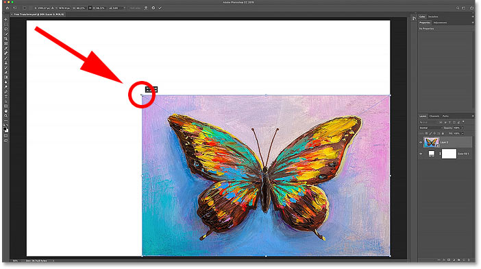 How to scale proportionally with Free Transform in Photoshop