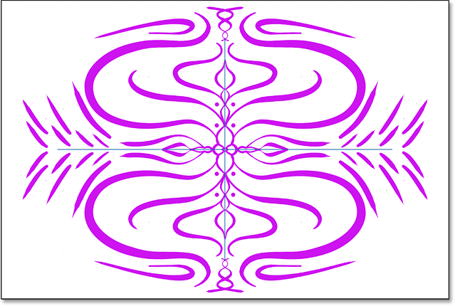 A symmetrical design created with Paint Symmetry in Photoshop CC 2019