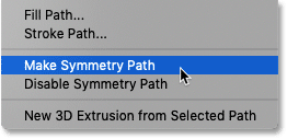 How to switch between paint symmetry paths in Photoshop CC 2019