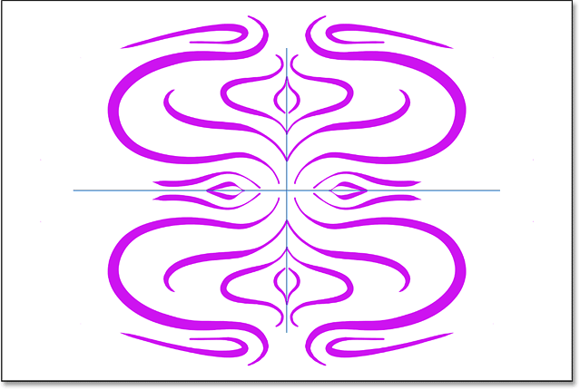 Adding more brush strokes to the paint symmetry effect in Photoshop