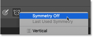 How to turn Paint Symmetry off in Photoshop CC 2019