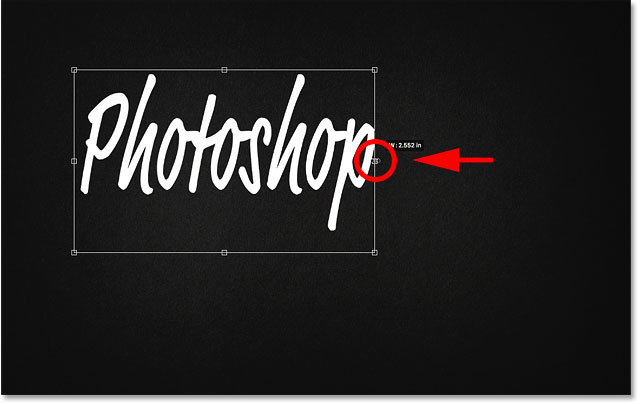 How to resize text non-proportionally with Free Transform in Photoshop CC 2019