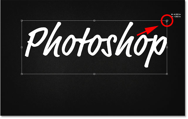 How to resize text with Free Transform in Photoshop CC 2019