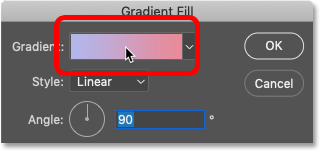How to open the Gradient Editor from Photoshop's Gradient Fill dialog box