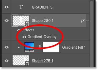 How to apply gradients to shapes as Gradient Overlay layer effects in Photoshop