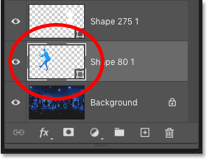 Photoshop's Layers panel showing the gradient applied as a fill to the shape