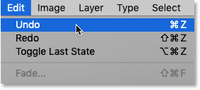 How to undo a step in Photoshop's Content-Aware Fill workspace