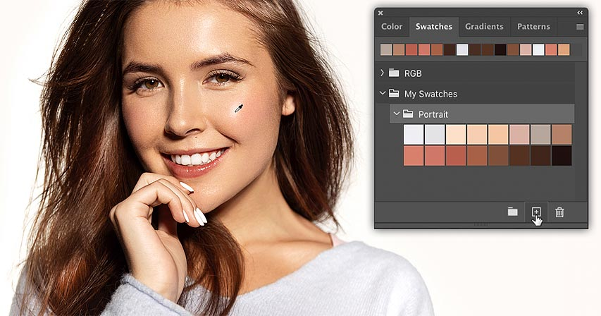 How to create color swatches in Photoshop CC 2020