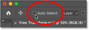The Auto-Select option for Photoshop's Move Tool
