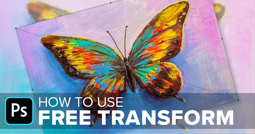 How to use Free Transform in Photoshop tutorial