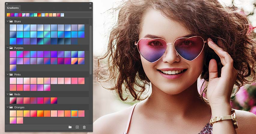 The new Gradients panel in Photoshop CC 2020 tutorial