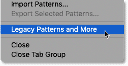 Loading the missing patterns into Photoshop CC 2020