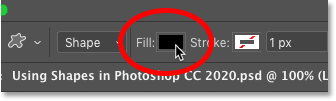 How to change the fill of a shape in Photoshop
