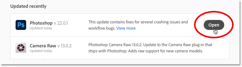 Photoshop CC update in progress.