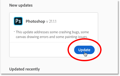 How to update Photoshop to the latest version