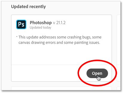 Photoshop CC update in progress.