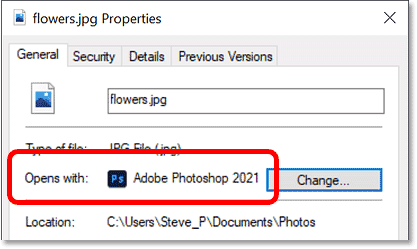 JPEG files will now open with Photoshop in Windows 10