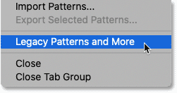 Loading Legacy Patterns and More in Photoshop