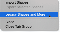 Loading Legacy Shapes and More in Photoshop
