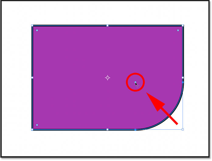 How to adjust the roundness of a single shape corner in Photoshop CC 2021
