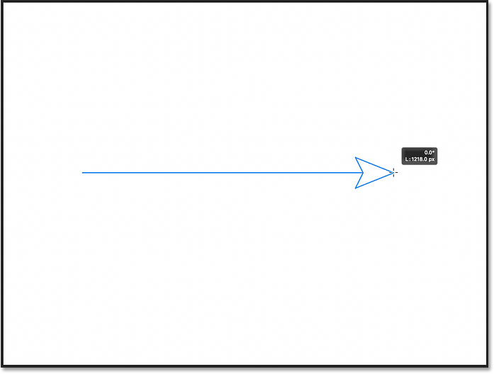 Drawing a line with an arrowhead using the Line Tool in Photoshop CC 2021