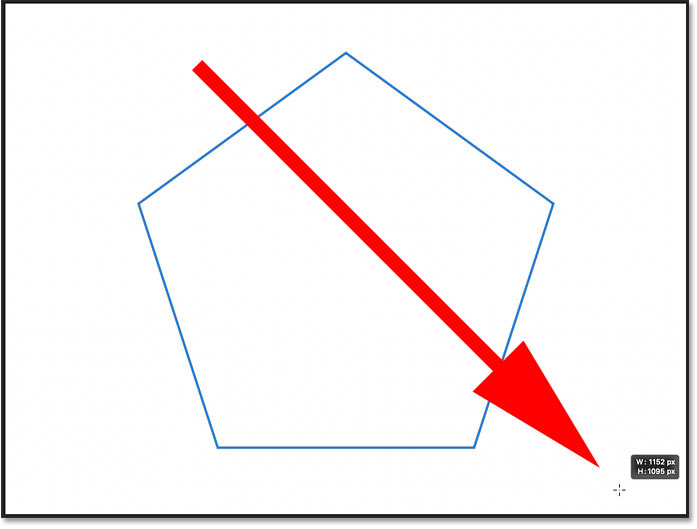 Drawing a symmetrical polygon shape with the Polygon Tool in Photoshop