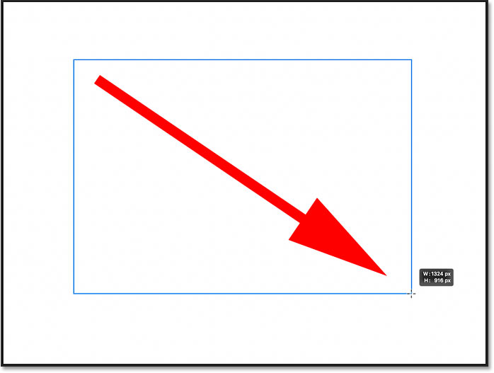 Drawing a rectangle shape with the Rectangle Tool in Photoshop