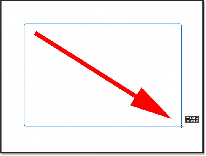 Drawing a rounded rectangle with the Rounded Rectangle Tool in Photoshop