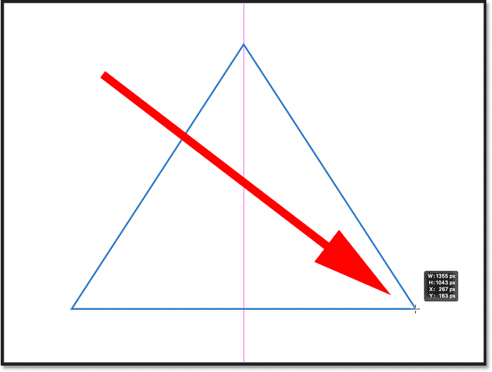 Drawing a triangle shape with the new Triangle Tool in Photoshop 2021