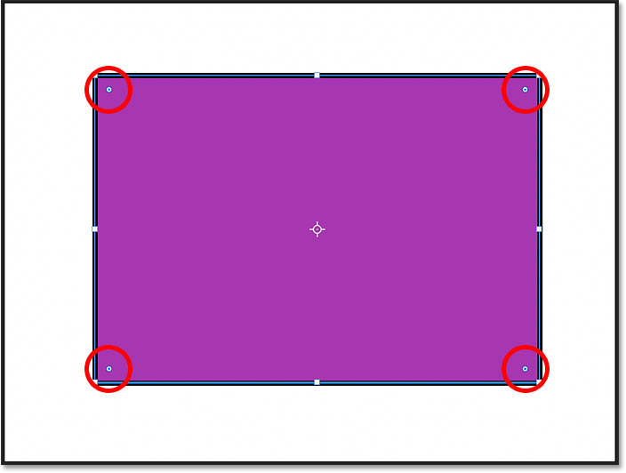 The corner radius controls for the shape in Photoshop CC 2021