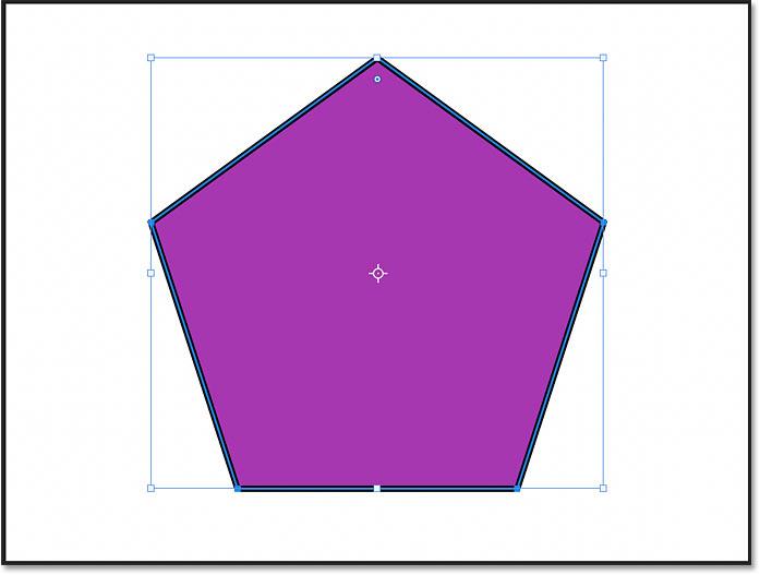 A symmetical polygon shape drawn in Photoshop CC 2021
