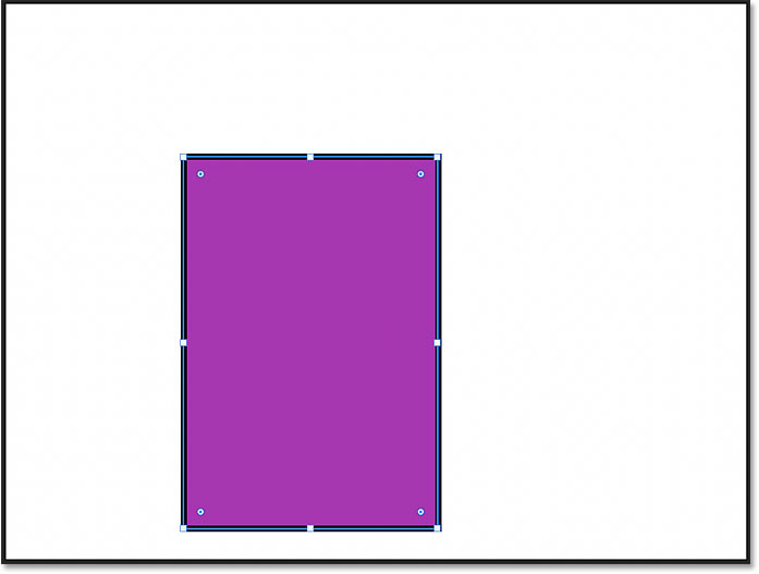 The rectangle shape has been drawn at the exact size in Photoshop