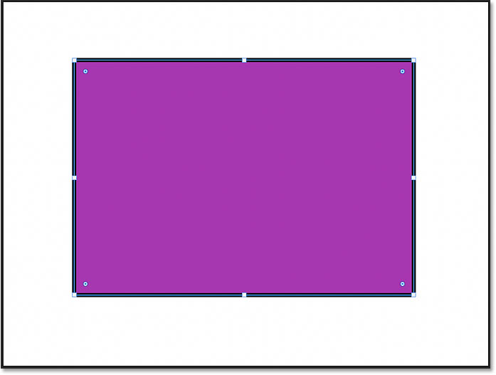 A rectangle shape drawn with the Rectangle Tool in Photoshop