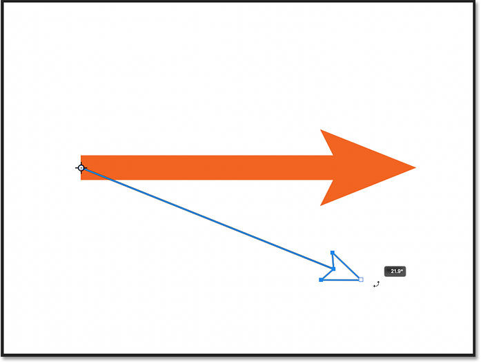 Rotating the line around the new rotation point