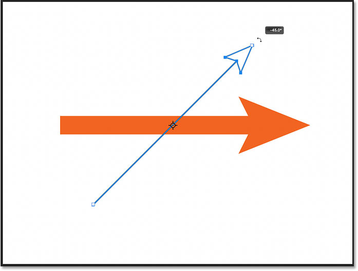 Rotating the line using the On-Canvas Controls