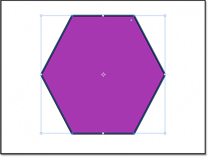 The polygon shape with the number of sides increased to six