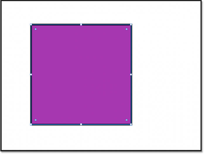 A perfect square drawn using the Rectangle Tool in Photoshop