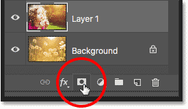 Adding a layer mask in Photoshop