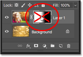 How to toggle a layer mask on and off in Photoshop