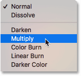 Choosing a random blend mode from the Photoshop Layers panel