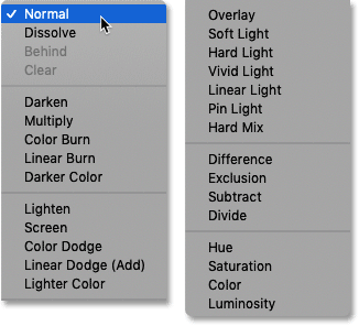 The complete list of brush tool blend modes in Photoshop