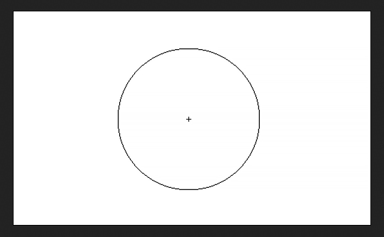The crosshair makes the center of the brush cursor in Photoshop