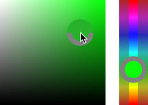 The default HUD Color Picker (the Hue strip) in Photoshop