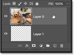 Selecting the layer that will be clipped to the layer below