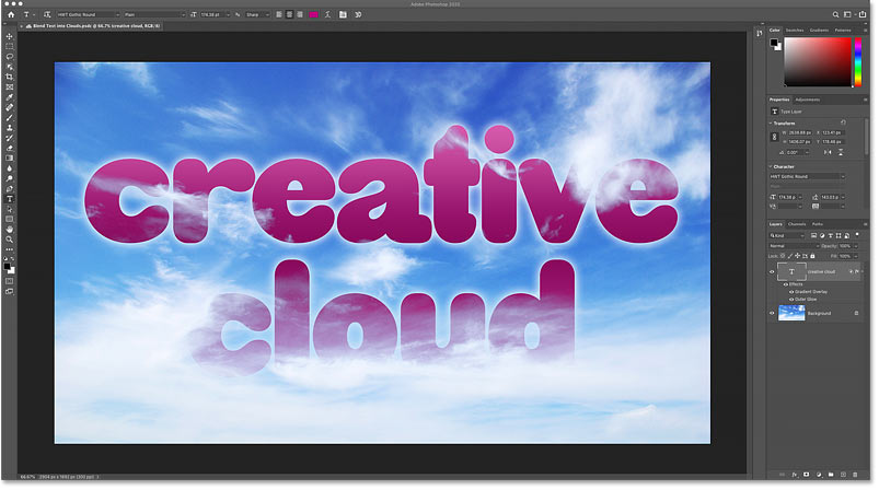 Editing an existing Photoshop cloud document