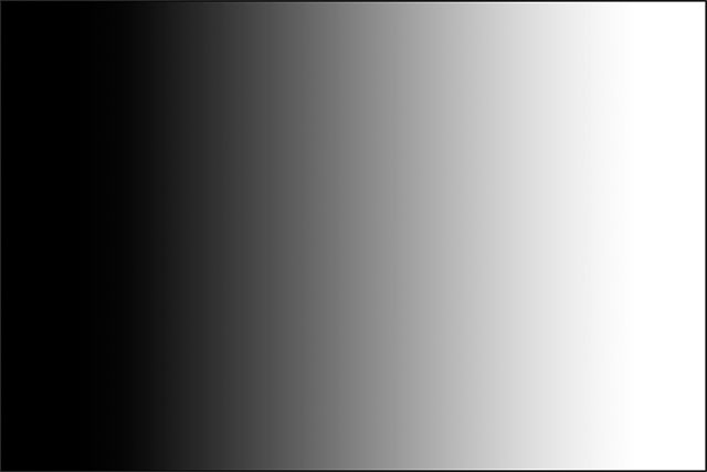 A black to white gradient drawn with the Gradient Tool.