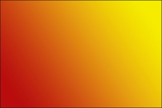 The new red to yellow gradient drawn with the Gradient Tool.
