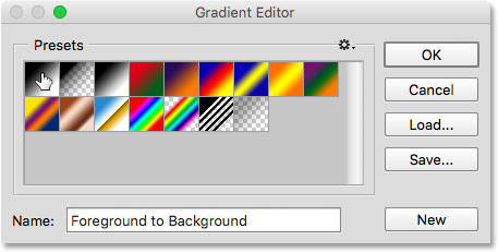 The original gradients have been restored.
